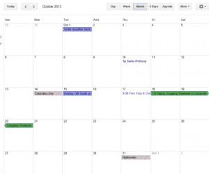 Oct 2013 Calendar