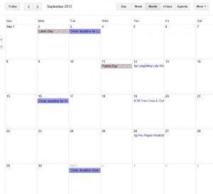 Sept 2013 Calendar